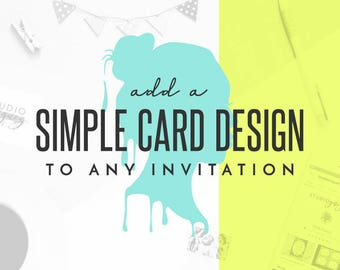 Add an Additional Card to Any StudioYniguez Invitation or Invitation Set