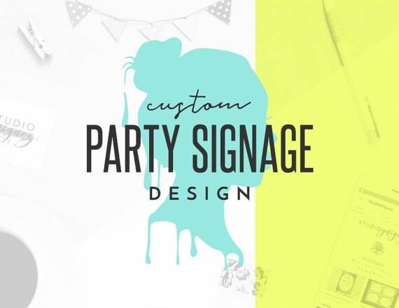 70023ab37 Custom 8 x 10 Birthday Sign Design Custom Wedding | Etsy