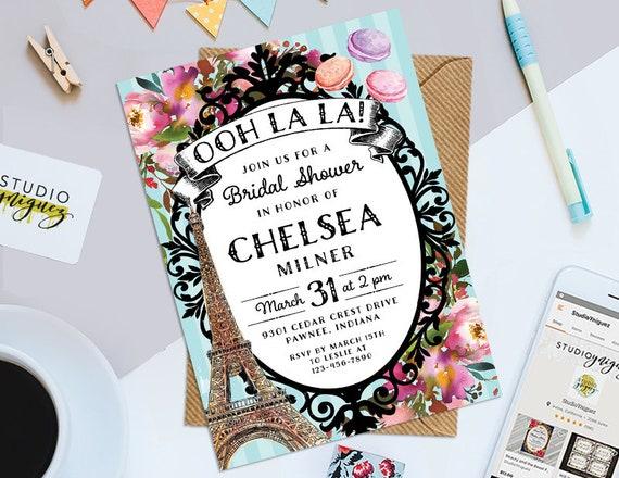 e5469e8ff09 Ooh La La Bridal Shower Tea Party Printable 5 x 7