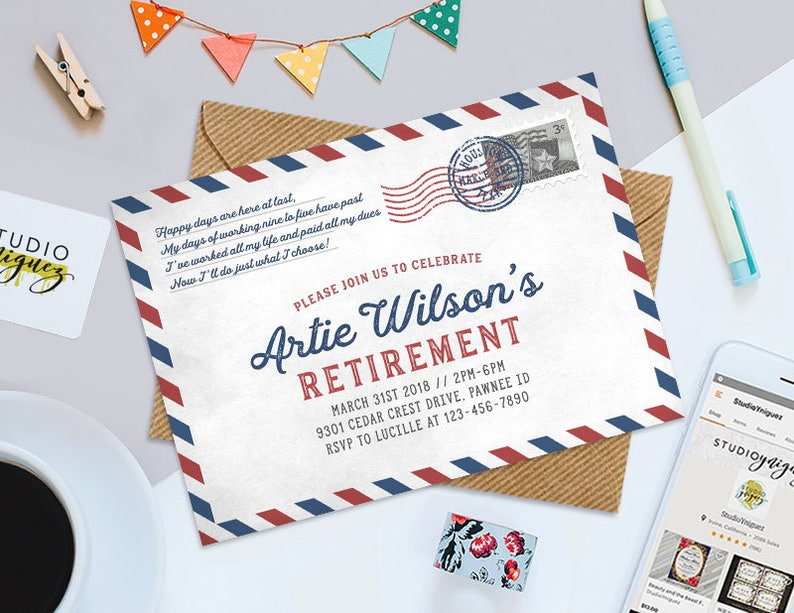 Post Office Retirement Party Printable Invitation Printable image 0