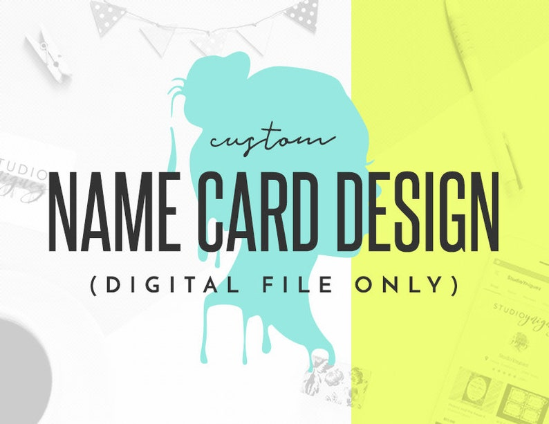 Custom Printable Name Cards Place Cards Custom Place Cards image 0