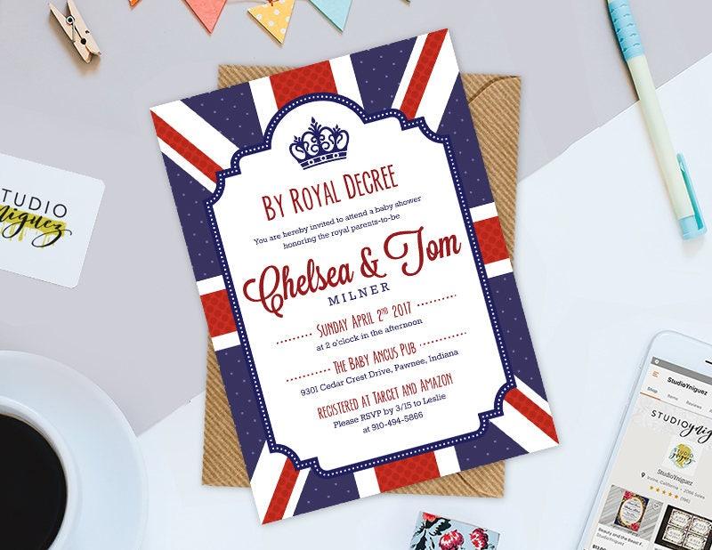 Königliche britische Baby-Dusche Einladung durch königliche   Etsy