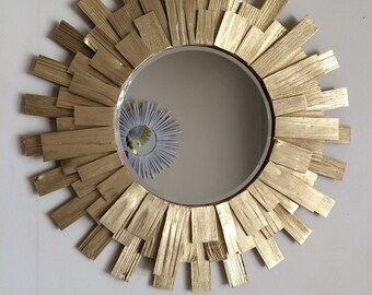 Sunburst Wall Mirror Gold