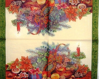 decoupage paper Christmas and New Year Decoupage paper napkins Eat