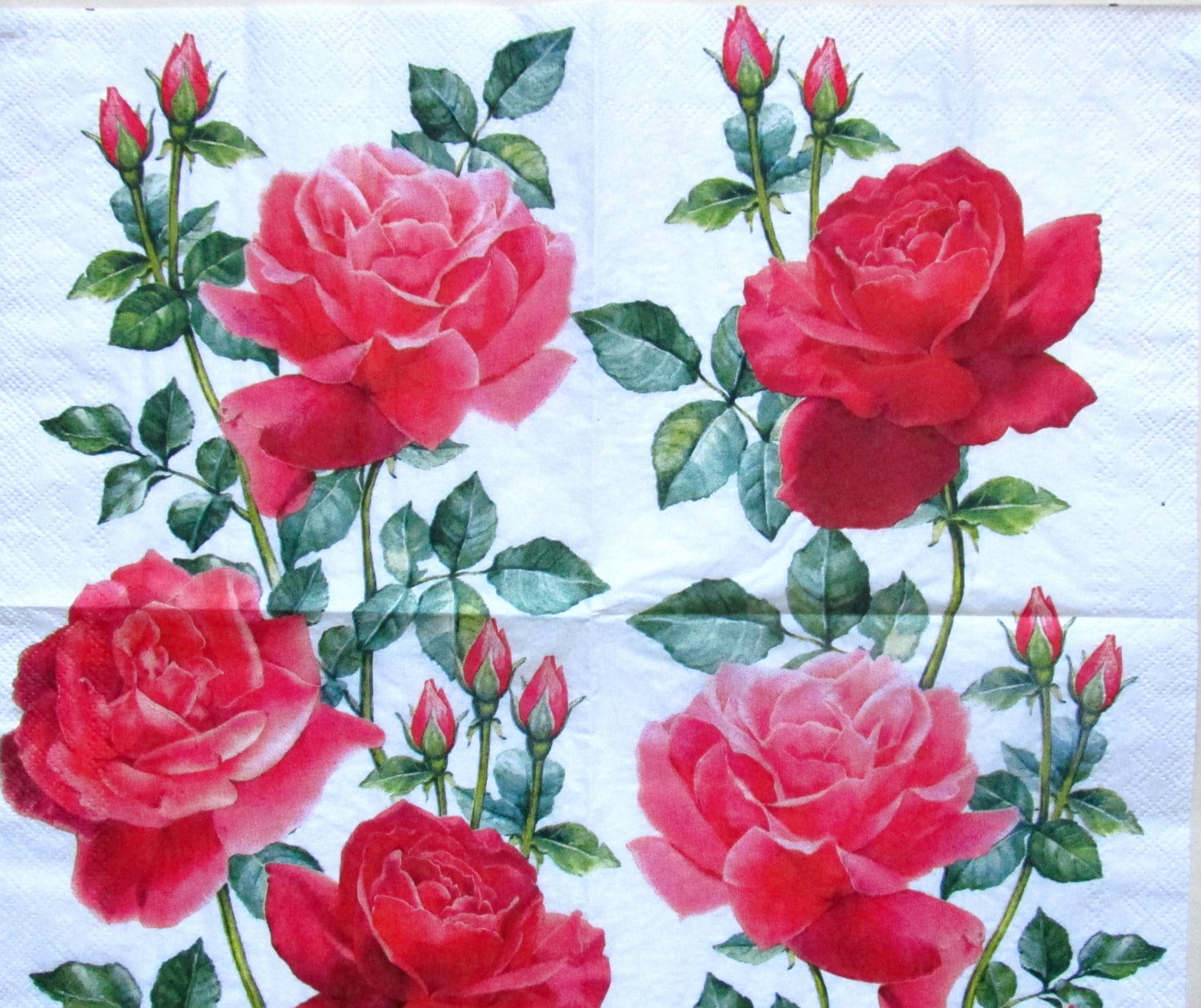 Roses decoupage paper napkin decoupage paper supplies napkins etsy zoom mightylinksfo