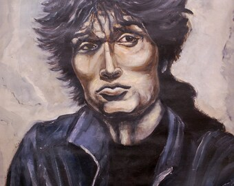 Portrait of singer Viktor Tsoi oil. Only 25 dollars!