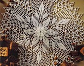 crochet christmas tablecloth doily round lace decoration large table topper placemat centerpiece home decor wedding birthday christmas gift