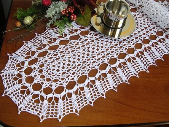 Häkeln Sie Läufer Deckchen Ovale Tischdecke Häkeln Spitze Etsy