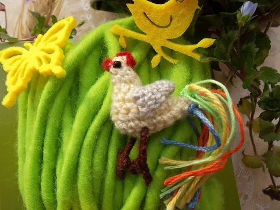 Haak Haan Pasen Kip Miniatuur Broche Pin Speelgoed Vogel Etsy