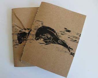 Hand made print notebook