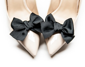 f3f5f9c72d1 Handmade black Bows for shoes - Mififi Shoe Clips