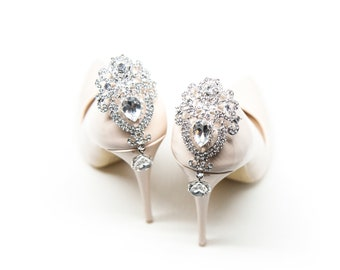 Crystal shoe Clips for the back of the shoes- Mififi Shoe clips Wedding  shoe clips d9d228ef6697