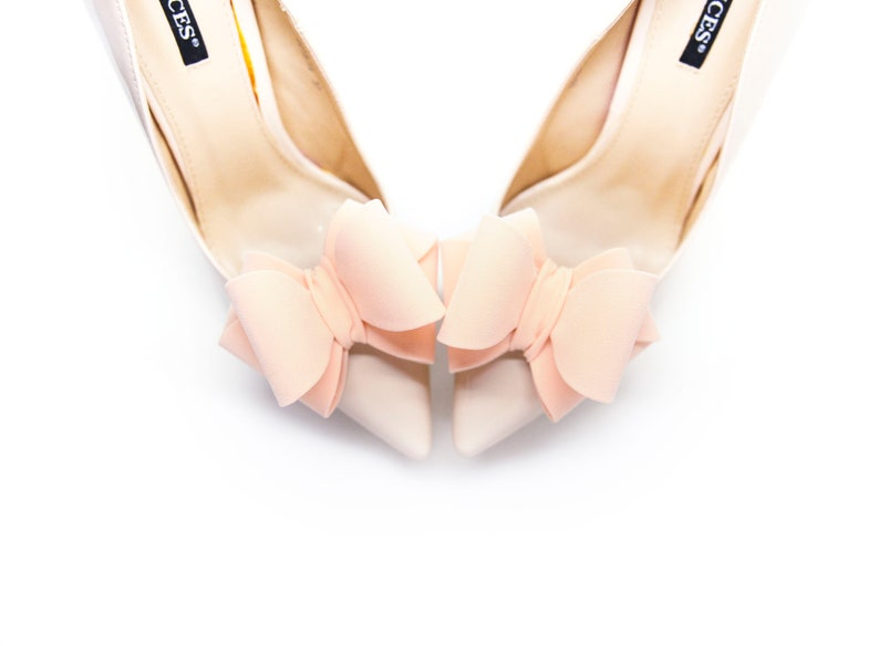 bc0449864c082 Handmade Light orange 3D Bows- Mififi Shoe Clips orange bows for wedding  shoes Wedding shoes decorations Jewelry for shoes Clips for shoes