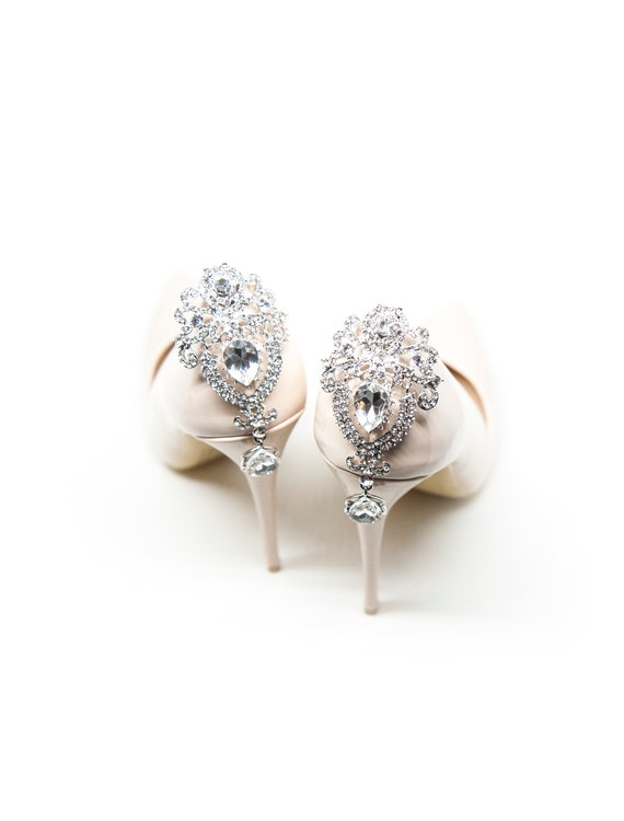 68b1a5341ebd9 Crystal shoe Clips for the back of the shoes- Mififi Shoe clips Wedding  shoe clips
