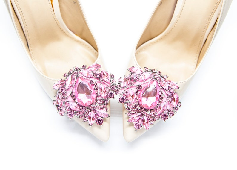 8421026b1197d Light pink Jewelry Decorations Shoe Clips - Mififi Shoe Clips Bridal shoe  clips Pink jewelry for shoes Wedding shoes Crystal shoe clips