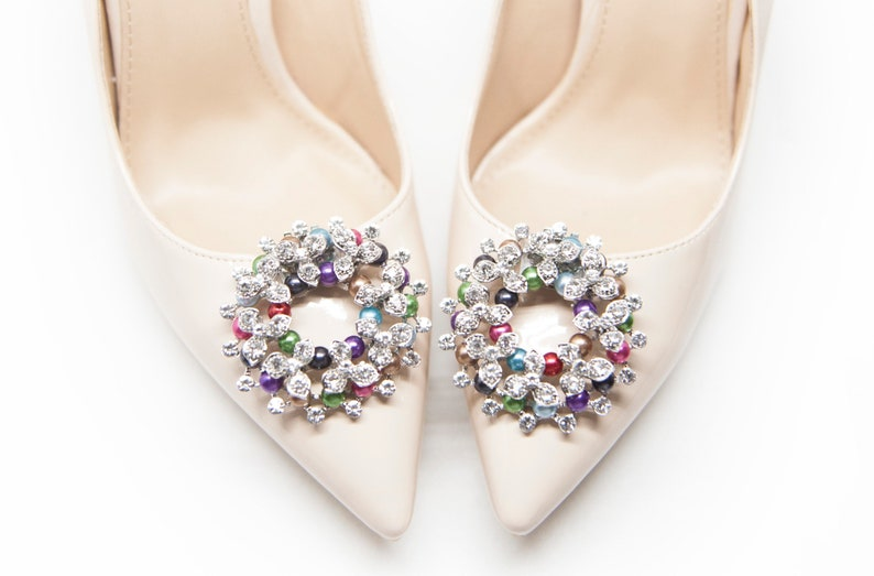 Colorful jewelry Decorations  Shoe Clips Mififi Shoe Clips