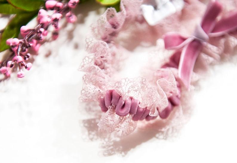 Something blue Wedding gift Pink garter Powder pink  lace Wedding garter- Mififi Garter Something for bride Powder pink wedding garter