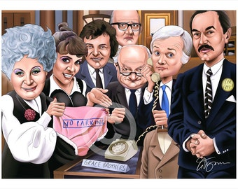 Are You Being Served caricature - artwork print signed by artist - 100 print edition - 2 sizes