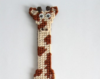 Giraffe bookmark,animal bookmark,planner accessories,student gift,kids bookmark,gift for readers,back to school,bookmark handmade