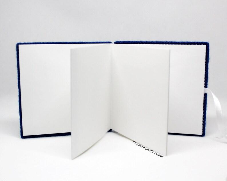 Photo album 4x4 granny square blue