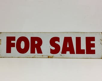 Vintage Metal Sign/ Vintage For Sale Sign/ Vintage Shop Keeping/Vintage Sign