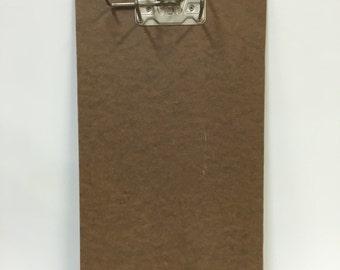 Vintage clipboard with arch lever bracket;Vintage Office; Vintage Clipboard
