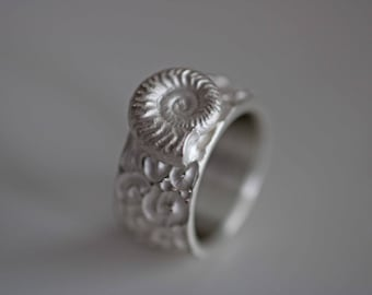 Unusual men/'s ring made of 925 sterling silver by Frank Schwope