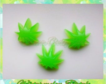 WATERMELON PATCH 2oz. Set of 4 Mini Weed Leaf Decorative Soap