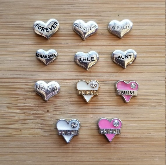 Floating Sisters Heart Charm Compatible With Origami Owl Lockets ...   568x570