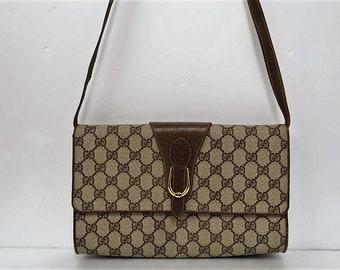 edcdace9f4bb4 Flash sale ! Vintage Gucci brown GG monogram Supreme bag clutch purse