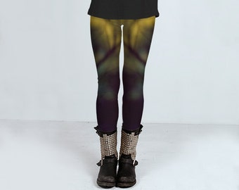 Punk Goth Leggings, Yoga Leggings, Workout Leggings, Womens Clothing, Printed Leggings, Workout, Punk Clothing, Goth Clothing, Emo Clothing