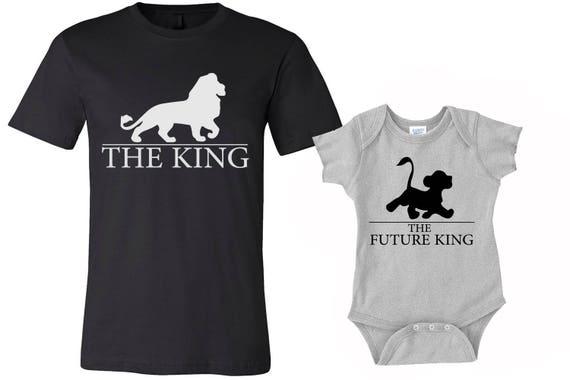 set of 2 king shirts dad and son shirts daddy shirt and baby