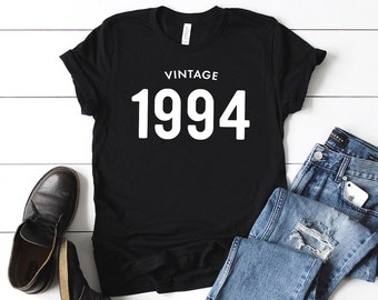 6f308e068 25th Birthday Shirt Vintage 1994 T Shirt - Personalized Gift Idea for Men  and Women Short Sleeve Casual Jersey 90s Retro Graphic Tee Shirt