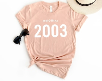 56f0e97ae 16th Birthday Shirt Original 2003 T Shirt - Personalized Gift Idea for  Women and Men Short Sleeve Casual Jersey 00s Retro Graphic Tee Shirt