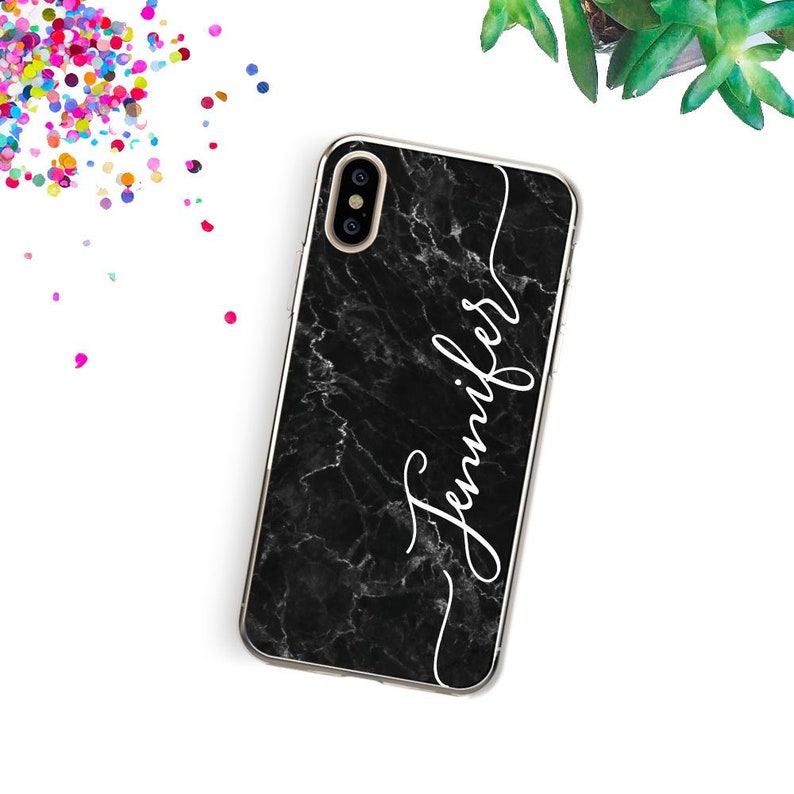 newest 5dc6e 44508 Personalized Marble iPhone XS Max Case Custom iPhone X Case Name iPhone 8  Plus Case iPhone 8 Case iPhone 7 Case iPhone XR Case iPhone 6 Case