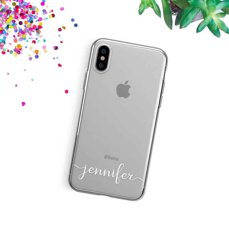 finest selection 5a350 9f7a0 Custom iPhone XS Max Case Name iPhone 8 Plus Case Personalized iPhone X  Case iPhone 10 Case iPhone 8 Case iPhone XR Case Clear iPhone 7 Case