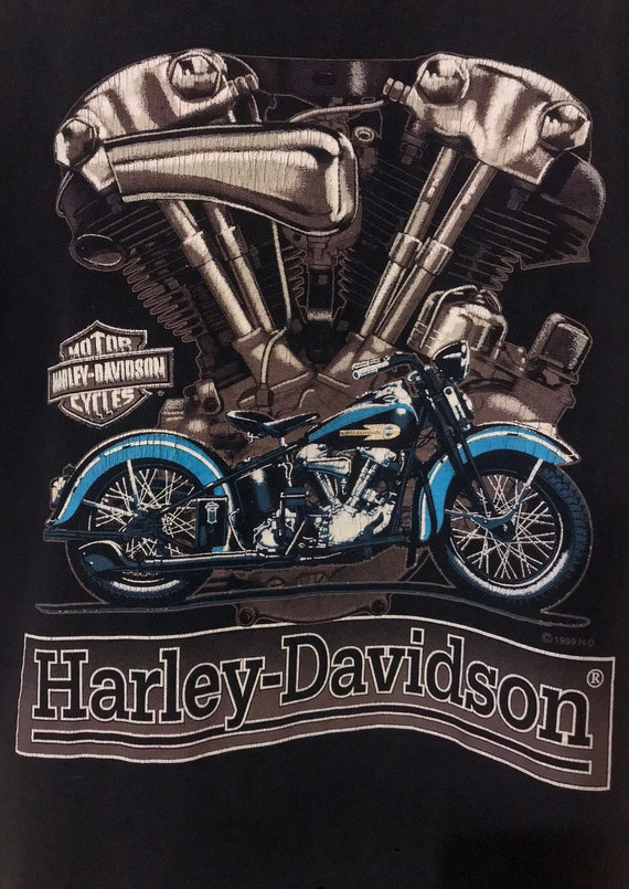 années 1990 Prince George, Colombie-Britannique Canada Canada Colombie-Britannique Harley Davidson T-Shirt / papier mince et Super doux / / / unisexe Medium 328084