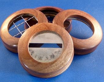 Natural Hardwood Ball and Mason Jar Lids