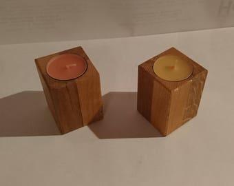 Kerzenlicht Holz Weihnachtsdeko
