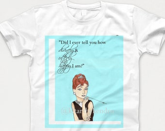 8960348d8 Breakfast At Tiffany's Audrey Hepburn T-Shirt / Bridal Shower / Movie  Quotes / Holly Golightly / Wedding / Tiffany Blue, Icon, Old Hollywood