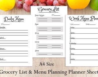 vacation planning sheets request different sizes 2019 etsy