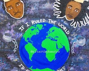 If I Ruled the World, Nas, Lauryn Hill, Hip-Hop Art, 90's Hip Hop, Old School Hip Hop Art Print