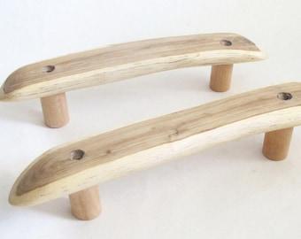 Rustic Wooden Drawer Handle, Oak Wood Sauna Door Pulls, Wooden Drawer Pulls, Log Cabin Furniture Handles