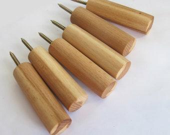 Wood Wall Hooks, Set of 2 Modern Coat Hooks, Wooden Wall Hooks, Rustic Home Decor