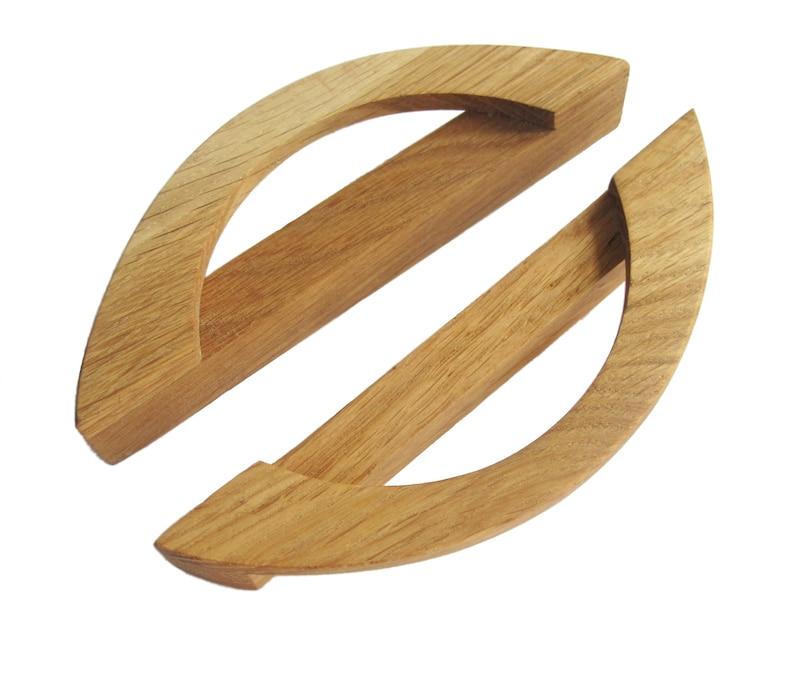 Wood Drawer Handles, 2 Modern Cabinet Drawer Knobs, Oak Wood Drawer Dresser  Pulls, Wooden Drawer Pull Handles