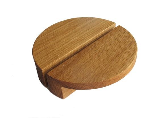 Modern Cabinet Knobs 4 9 2 Oak Wood, Oak Furniture Drawer Handles