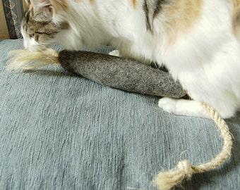 Felt catnip rat -- Best cat toy -- kicker cat nip felt cat toy
