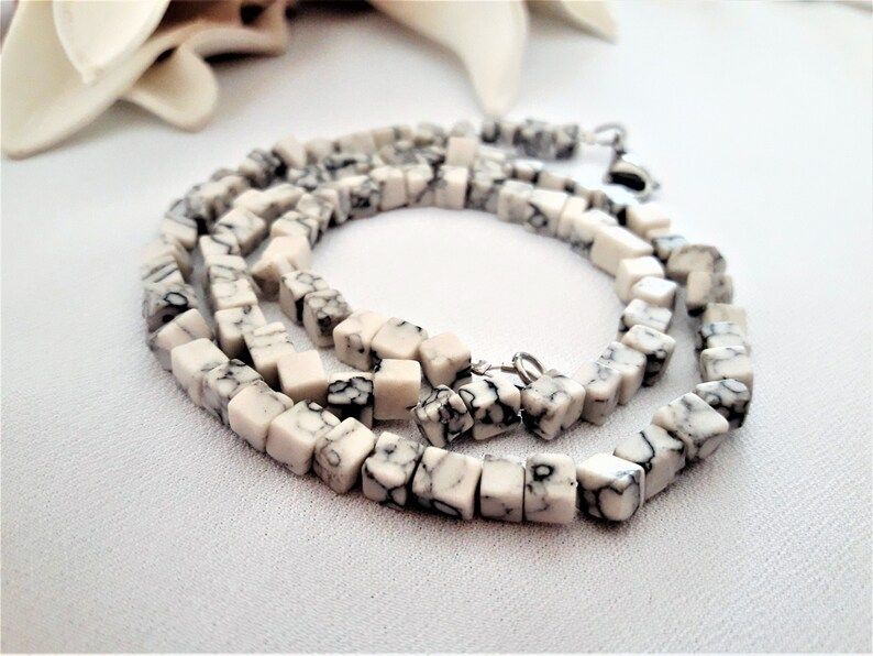 Mens Beaded necklace  Mens howlite necklace  African Necklace  Surfer necklace  Mens necklace  Men african jewelry