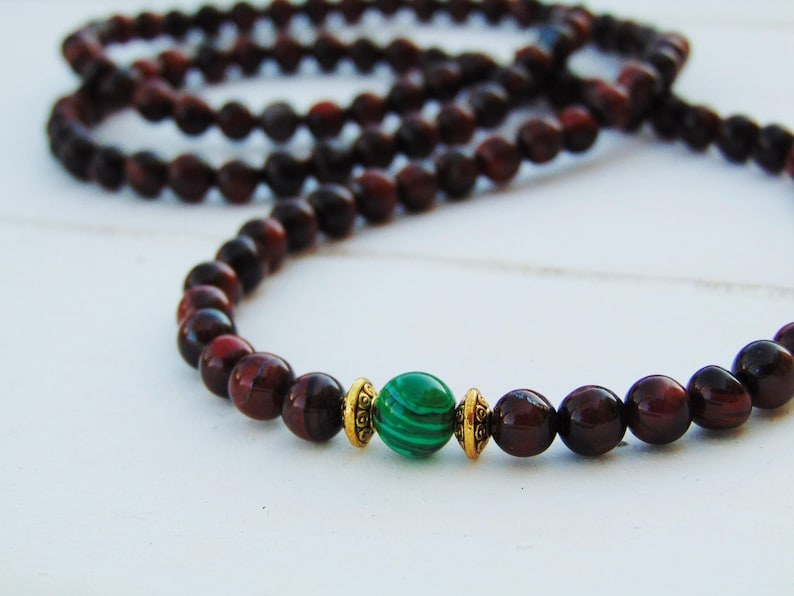 Mens beaded Necklace*Tigers eye necklace*Gemstone Necklace*Mens Necklace*Men African Necklace necklace*Gift for him