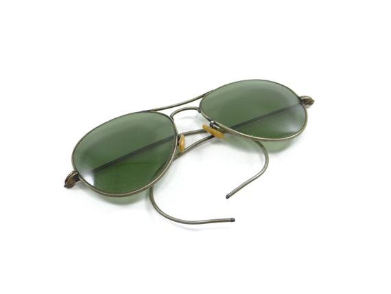 Aviator Vintage Green Glasses, Vintage Aviator Gla